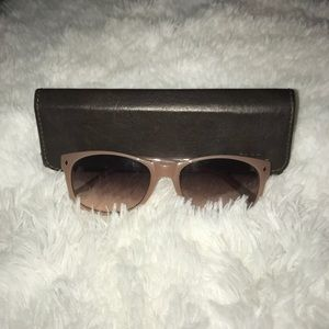 Fossil Dust Rose Sunglasses with Case